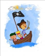 Histórias princesas piratas  herói é filho