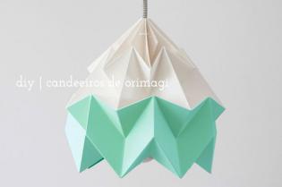 Ideias criativas: Aprenda fazer candeeiros origamis