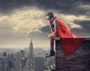 impacto super-heróis proteger criancas