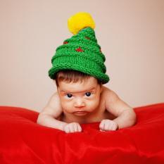 Inspiracões natalícias fotografar bebé