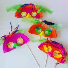 Máscara Carnaval pratos plástico