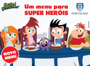 Nutri Ventures Portugália criam Menu Super Heróis