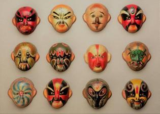 O papel Palhaço Ópera Chinesa Oficina Carnaval Museu Oriente