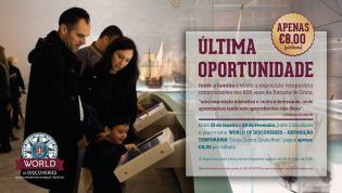 Oferta especial Famílias Visite World of Discoveries exposição temporária sobre Ceuta