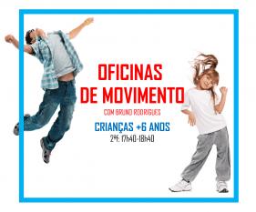 OFICINAS MOVIMENTO Oficinas de dança