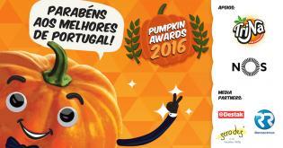 Parabéns melhores Portugal Conheca vencedores Pumpkin Awards 2016
