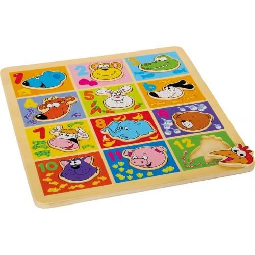 puzzle animais numeros