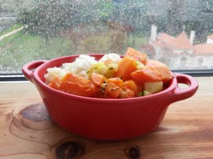 Risotto Safio cenouras, courgettes abóbora