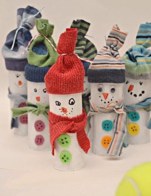 rolo de papel boneco de neve