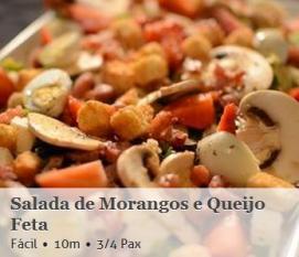Salada Morangos Queijo Feta