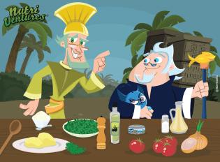 Salada Reinos Azul Verde