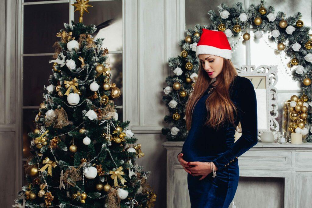 Grávidas com estilo no Natal