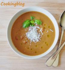 Sopa legumes grelhados