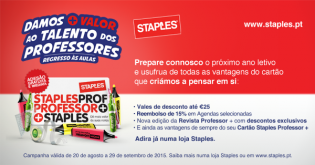 Staples lanca campanha Regresso às Aulas dedicada Professores