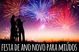 Super-Mega-Fabulosa Festa Ano Novo gente pequena
