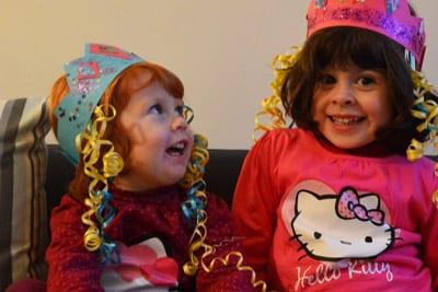 Coroa de princesa com caracóis