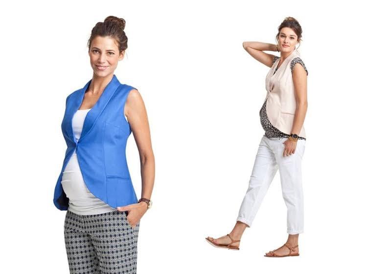 roupa para grávida - colete