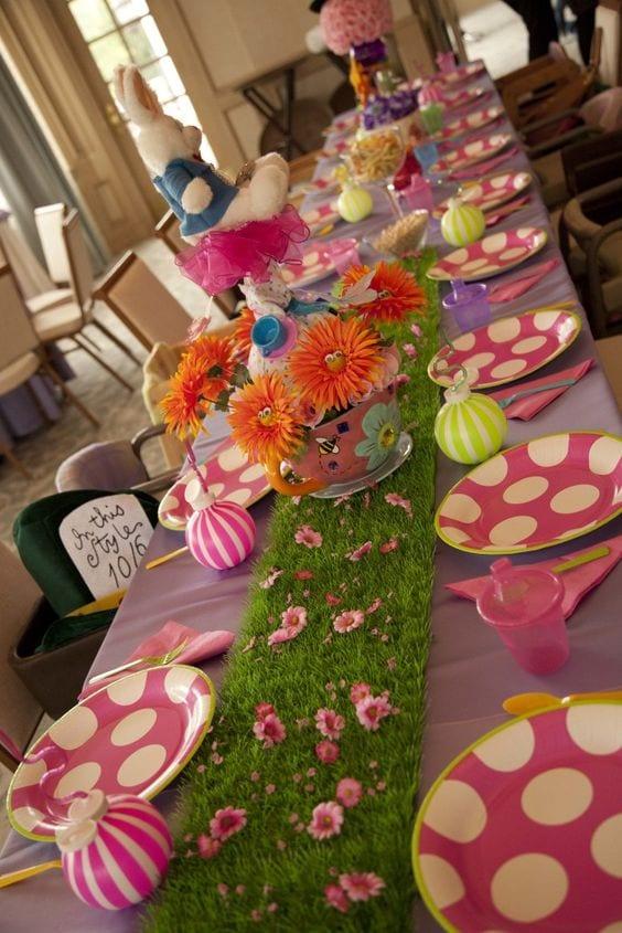 decoração de mesa trolls