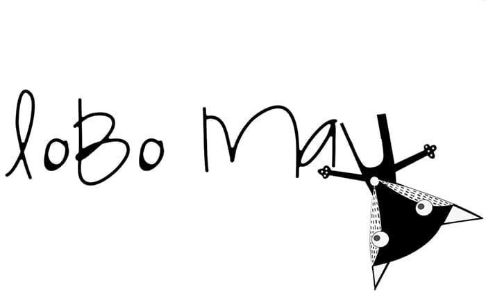 logotipo Lobo Mau Kids