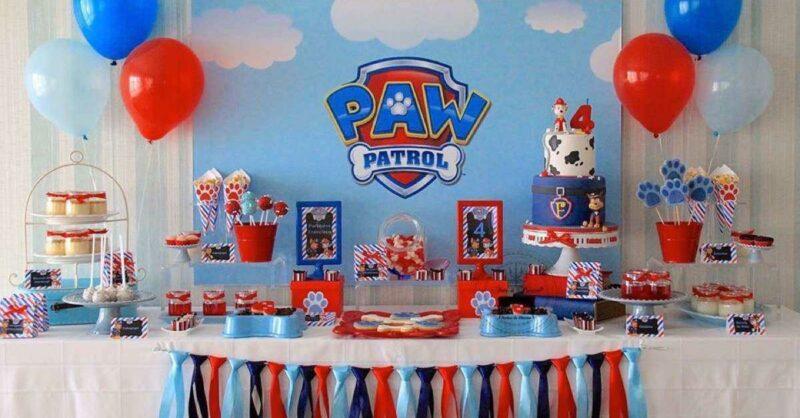 Tudo a postos para uma Festa de Aniversário com muita acção da Patrulha Pata?