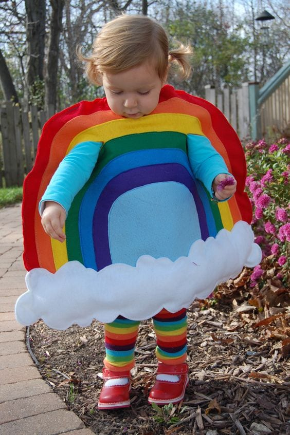 Os disfarces de Carnaval mais originais - arco iris