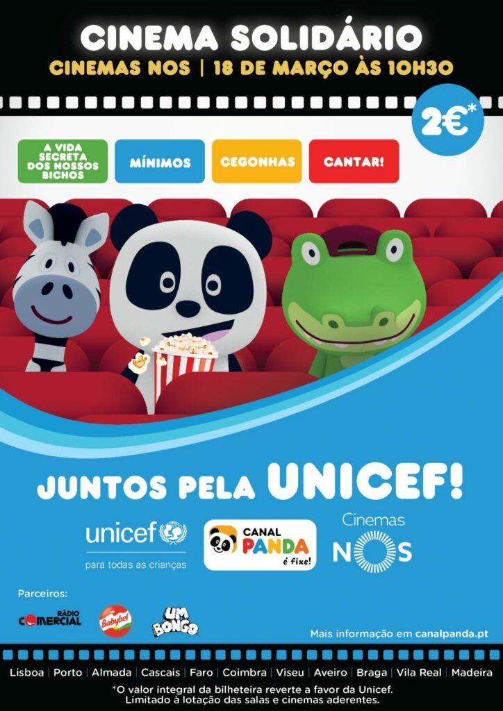 Cartaz Cinema Solidário Panda - Unicef