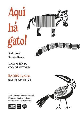 Lançamento c/ os autores de AQUI HÁ GATO!