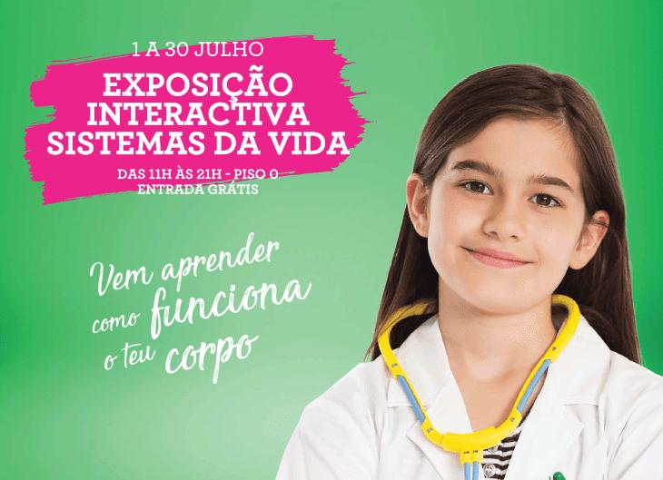 As melhores atividades para Crianças no fim de semana de 29 e 30 de Julho: Exposição sobre o Corpo Humano Montijo Rio Sul Shopping
