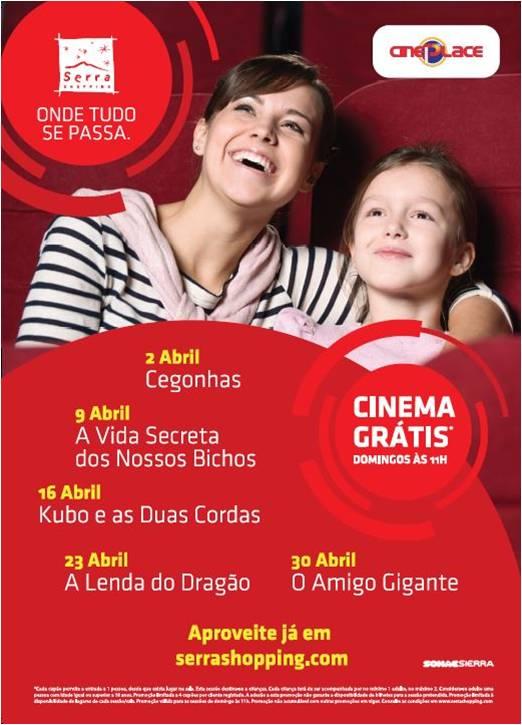 Em abril os domingos são sinónimo de cinema grátis no Serra Shopping