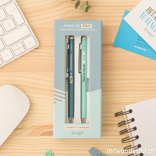 Mr. Wonderful - só para pais maravilhosos - caneta e lapiseira
