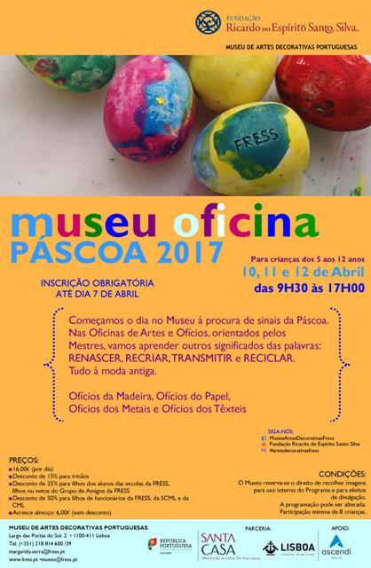 MUSEU OFICINA PÁSCOA 2017 de 10 a 12 de Abril