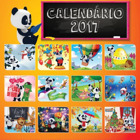 Passatempo - Calendários 2017 do Canal Panda