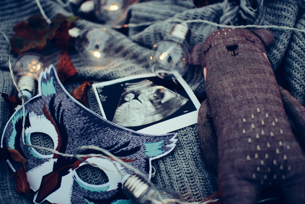 alimentação na gravidez - foto ecografia