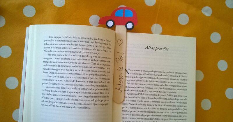 Um marcador de livros para oferecer no Dia do Pai!