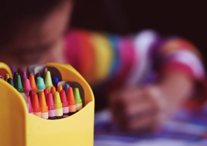 pintar com crianças