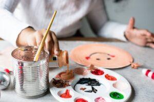 pinturas com crianças