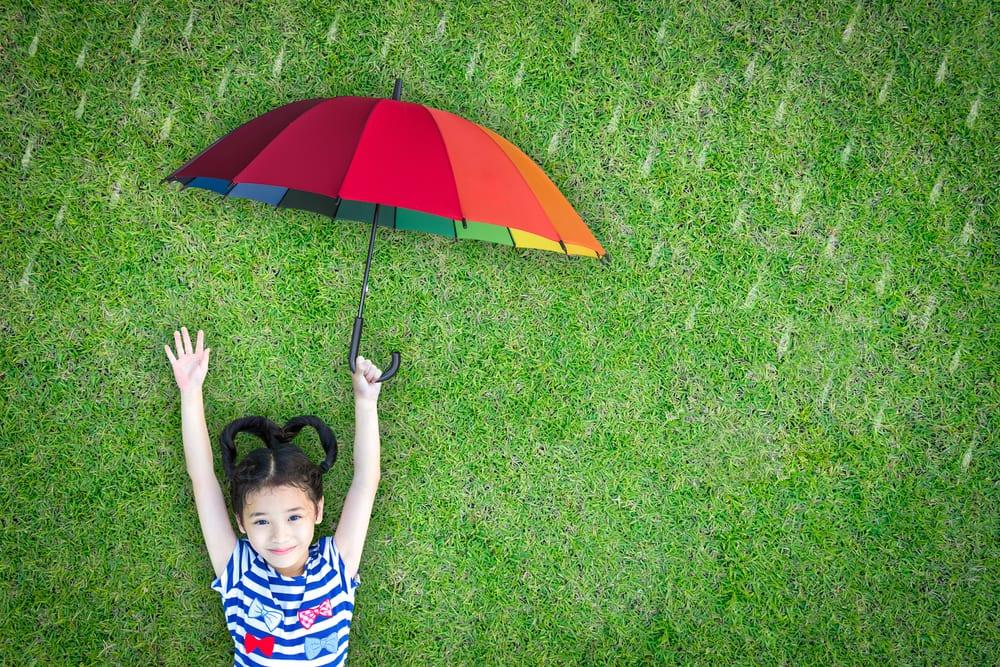 Programas giros para crianças à prova de chuva