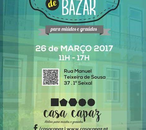 Domingo de Bazar na Casa Capaz no Seixal