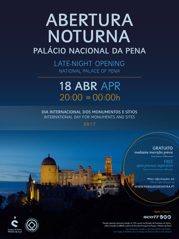 Palácio Nacional da Pena abre à noite