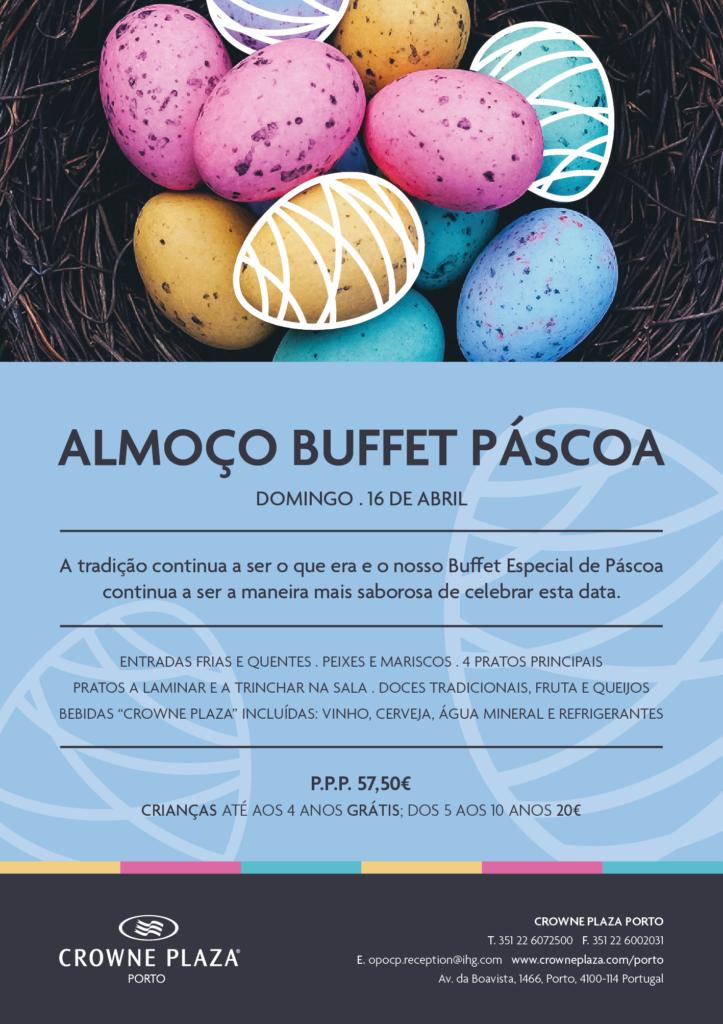 Páscoa celebra-se com um buffet no Crowne Plaza Porto