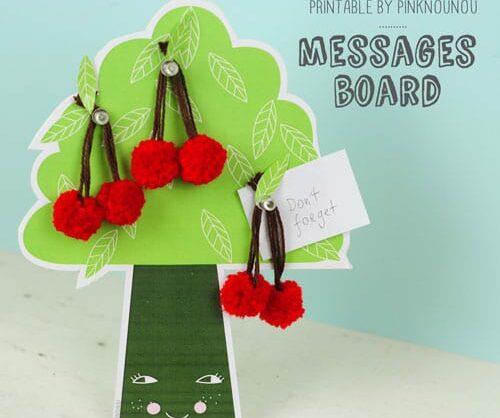 quadro de mensagens – árvore de cerejas