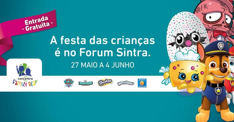atividades para Crianças no fim de semana de 27 e 28 de Maio e até 2 de Junho: Dia da Criança no Forum Sintra