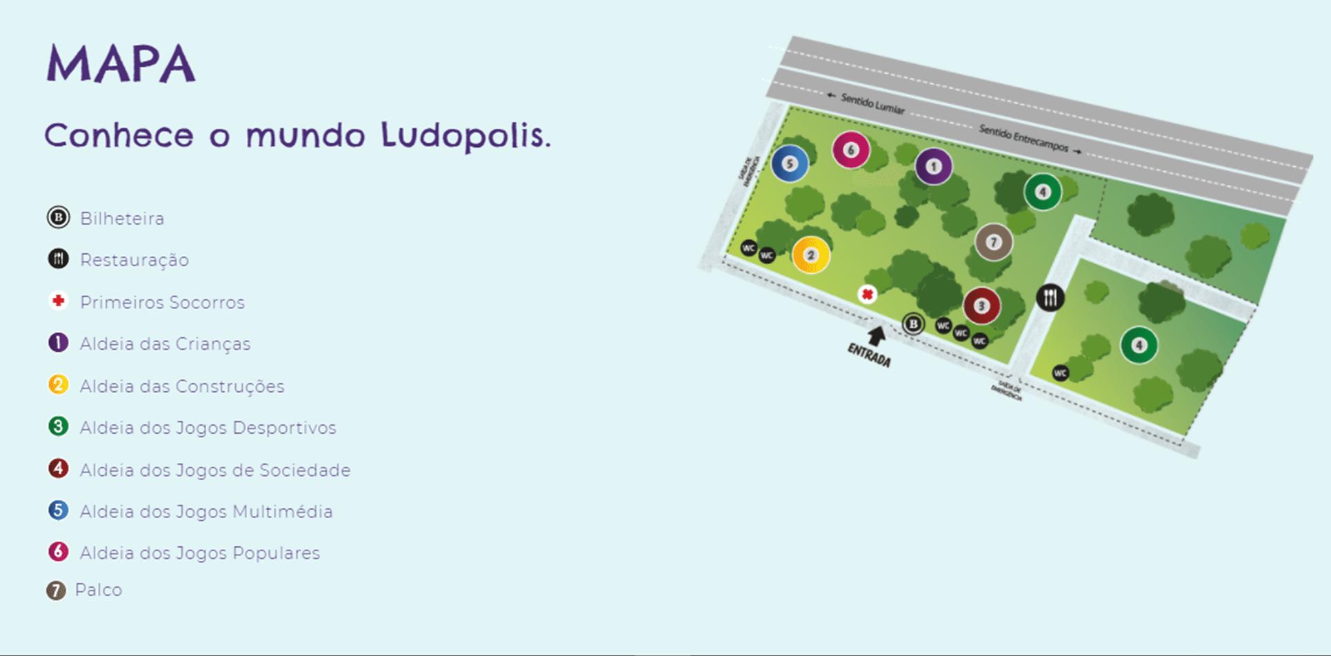 Ludopolis 2018 Mapa