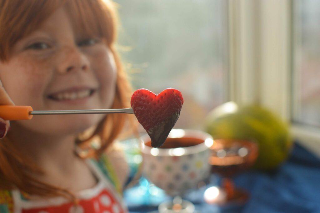 fondue de chocolate e frutas