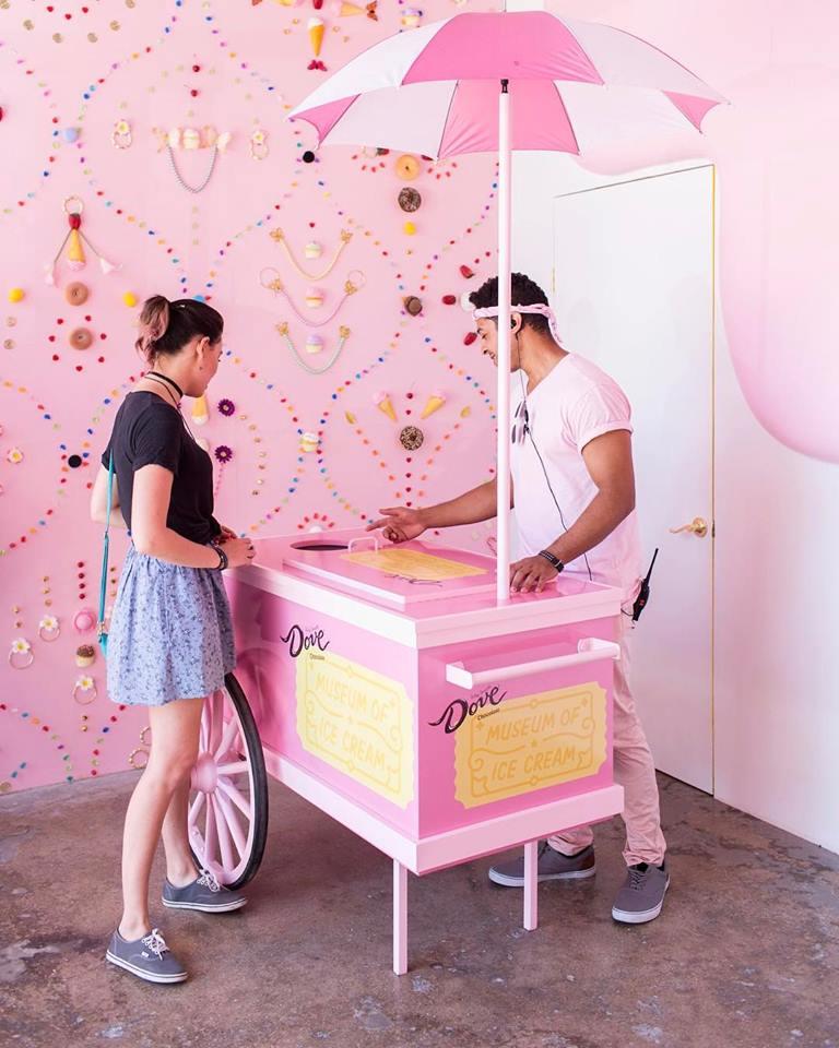 Museum of Ice Cream carrinho de gelados