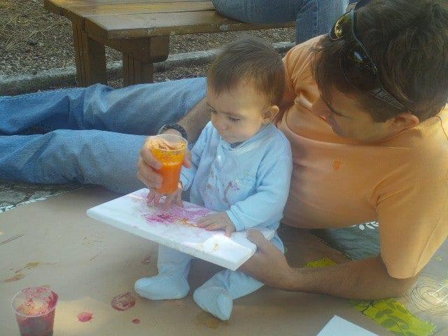 Pinturas bebés crianças tintas legumes caseiras comestíveis