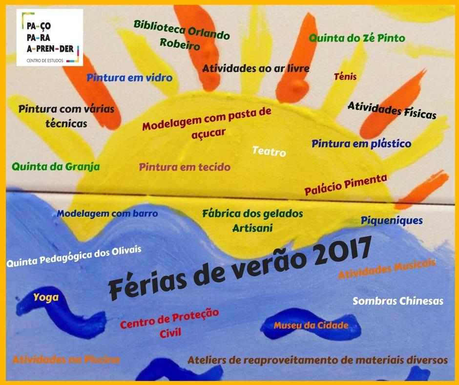 Atividades na FÉRIAS DE VERÃO