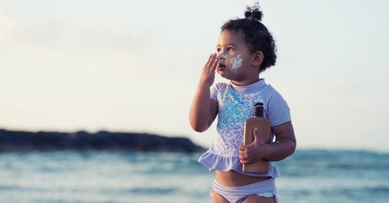 Cuidados com o Sol especialmente para crianças e bebés