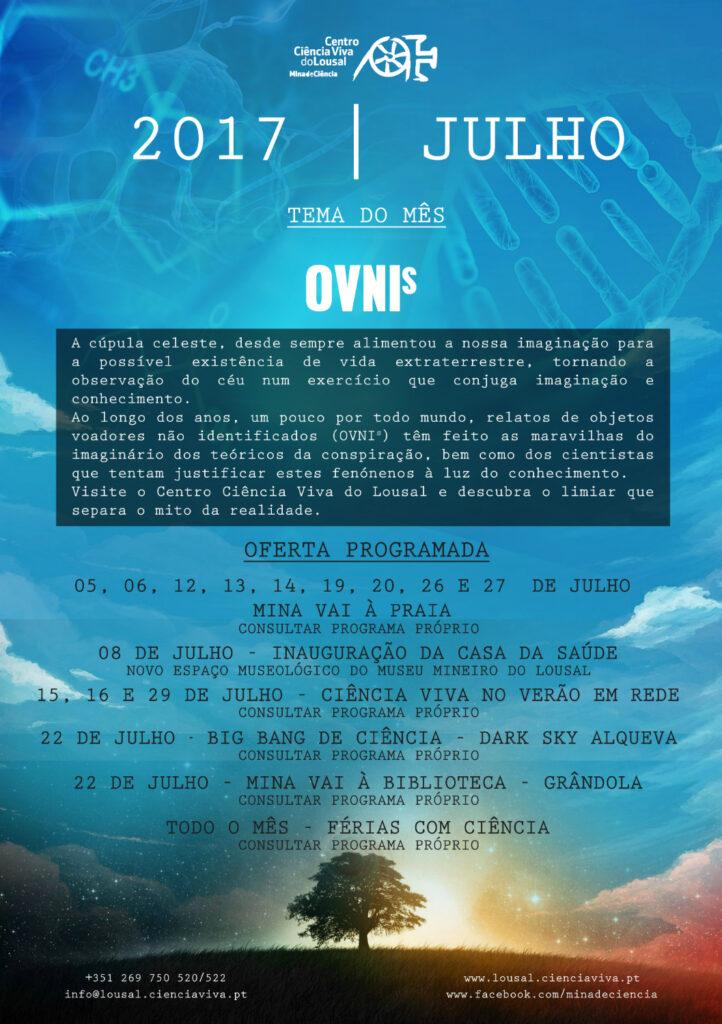 Julho na Mina de Ciência – Centro Ciência Viva do Lousal