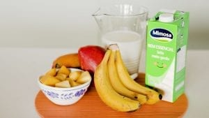 Receita manga e banana